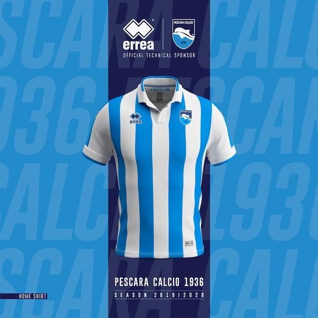 Pescara Calcio, le nuove divise per la stagione 2019 – 2020 [FOTO]