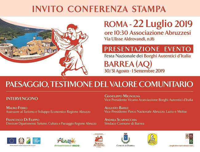 A Roma la presentazione della Festa Nazionale dei Borghi Autentici