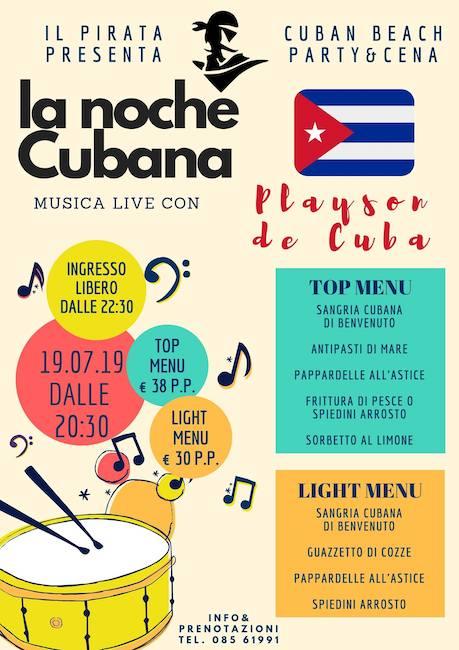 la noche cubana il pirata 19 luglio 2019