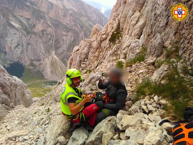 salvataggio escursionisti gransasso 2019 7 18