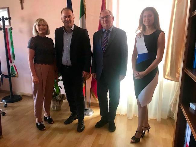 Montesilvano, il sindaco riceve il primo consigliere d'Ambasciata Russa