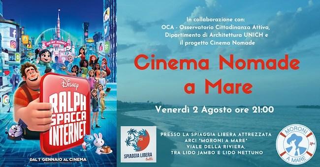 cinema nomade a mare 2 agosto 2019