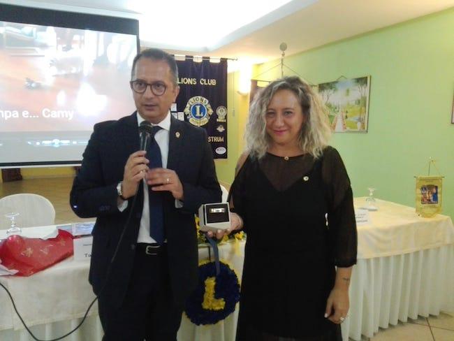 Il governatore Dragani e la presidente Settepanelli