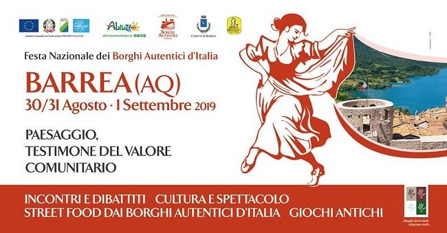 Barrea, Festa Nazionale dei Borghi Autentici d'Italia 2019. Il programma