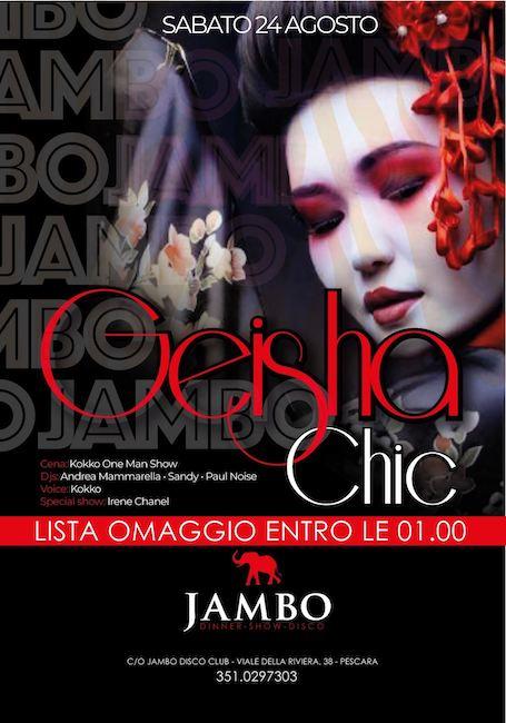 geisha chic jambo 24 agosto 2019