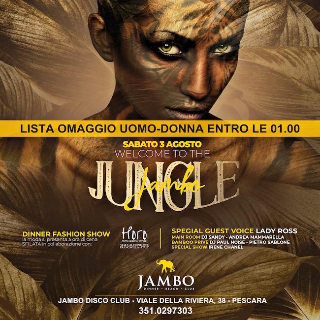 jungle jambo 3 agosto 2019