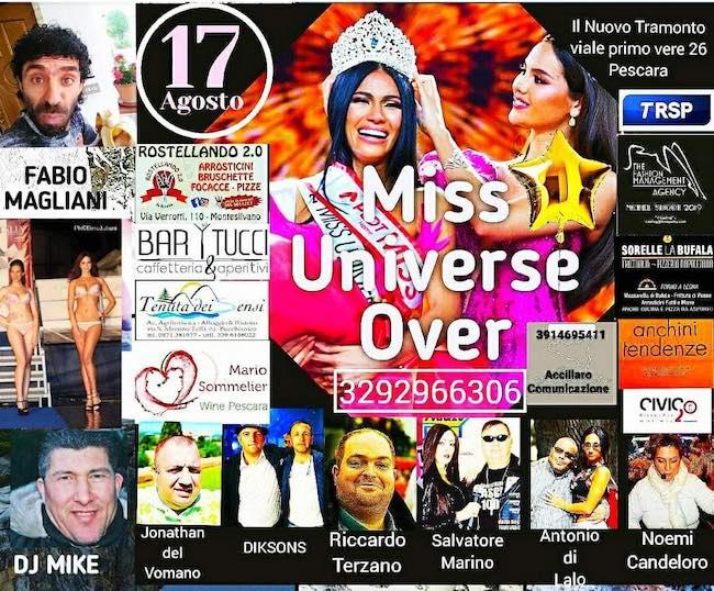 miss universo over 17 agosto 2019