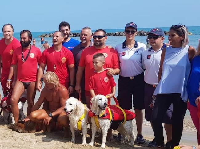 salvataggio mare cani Pescara