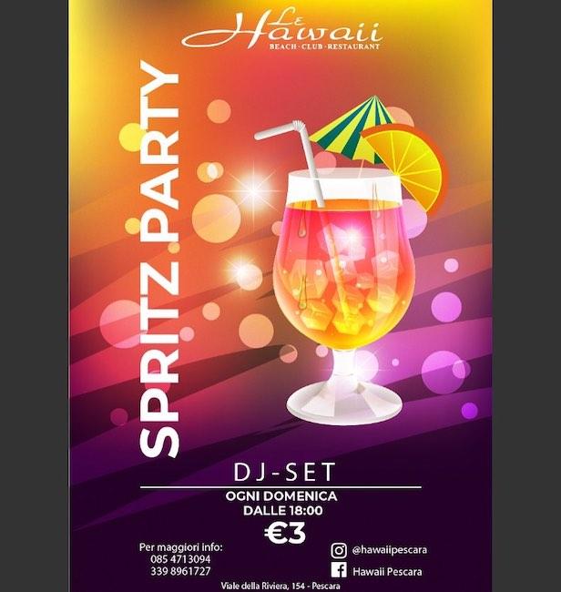 spritz party hawaii domenica