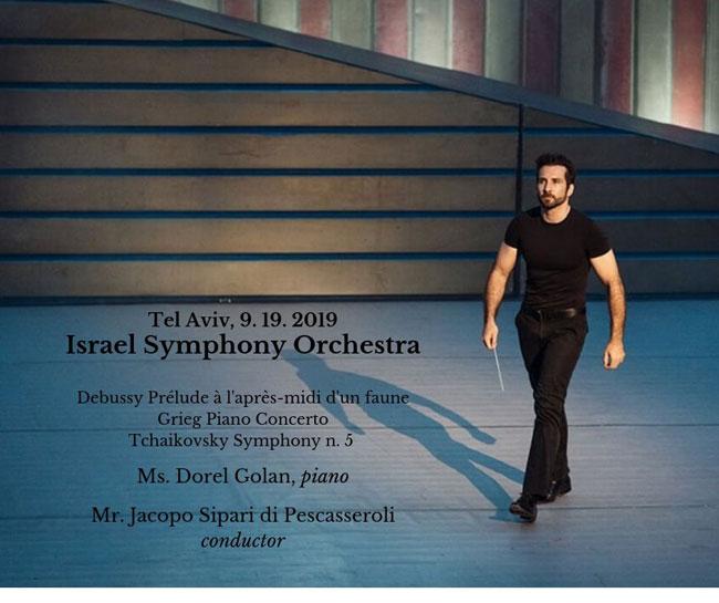 Jacopo Sipari sul podio della Israle Symphony Orchestra di Tel Aviv