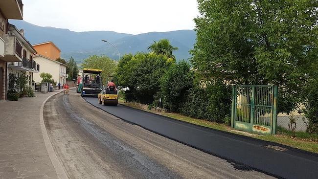 lavori strade Caramanico