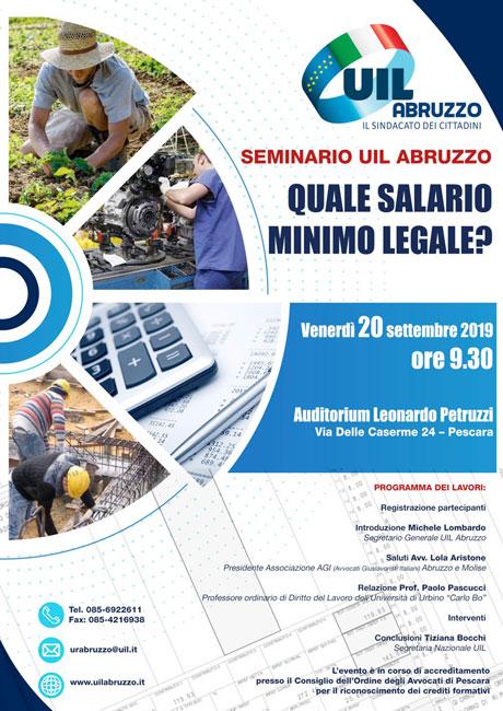 Salario minimo legale, seminario Uil Abruzzo a Pescara