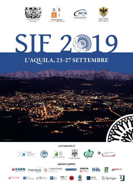 105° Congresso SIF Società Italiana di Fisica 2019 a L'Aquila