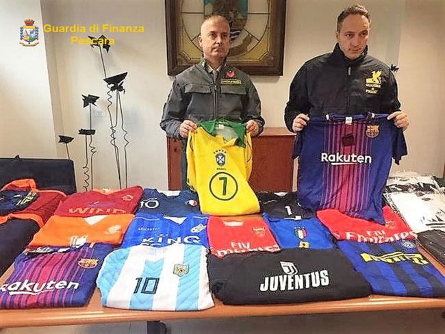 magliette calcio contraffatte Pescara