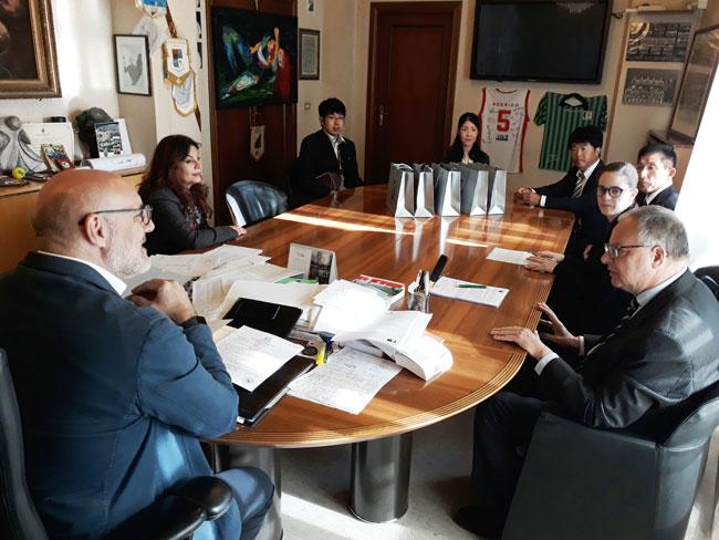 visita delegazione giapponese 22 ottobre 2019