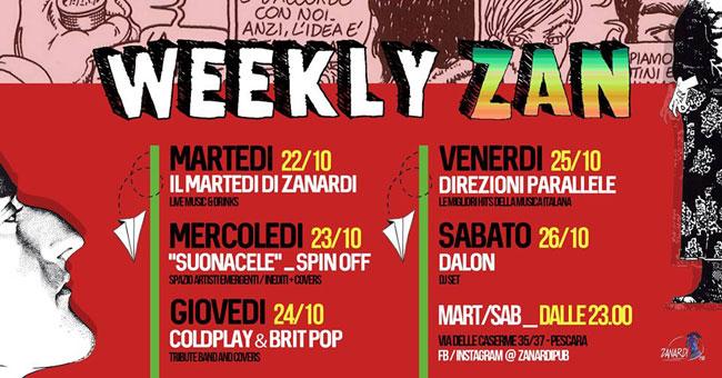 weekly zanardi 22-26 ottobre 2019