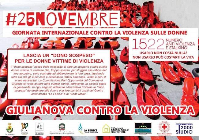 Giulianova, le iniziative per la Giornata internazionale contro la violenza sulle donne