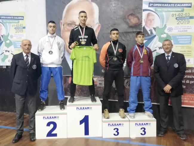 Federico Arnone, Medaglia d'Oro al 3°Open di Calabria di Karate FIJLKAM Matteo Pellicone