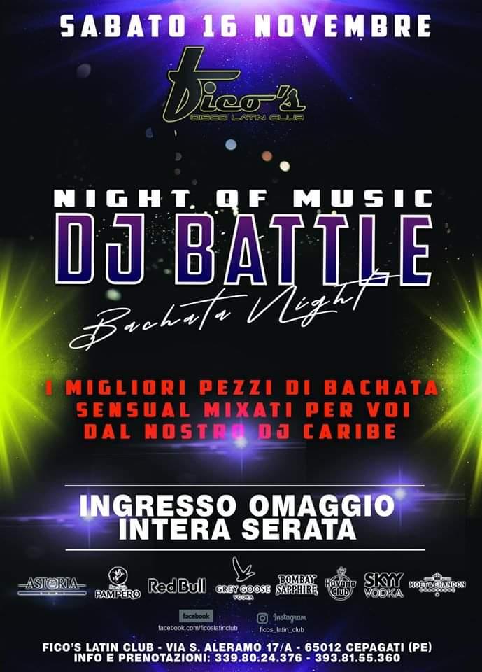 Night of music dj battle al Fico's Latin Club