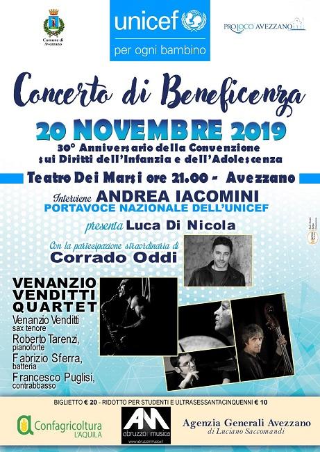 Avezzano, concerto di beneficenza pro Unicef al Teatro dei Marsi - Abruzzonews