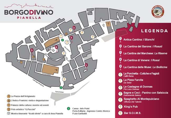 mappa borgo divino pianella 2019