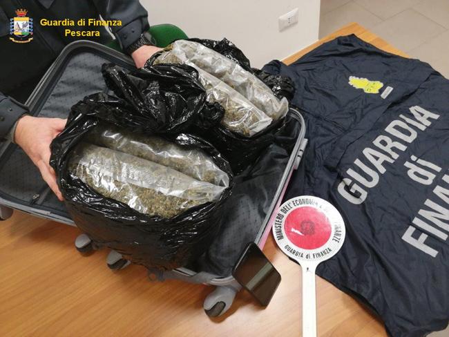 marijuana sequestrata a Pescara