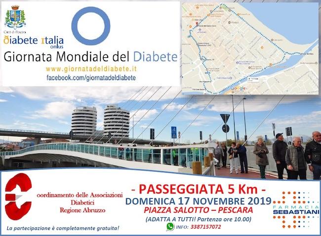 Passeggiata Giornata Mondiale Diabete e controlli domani a Pescara - Abruzzonews