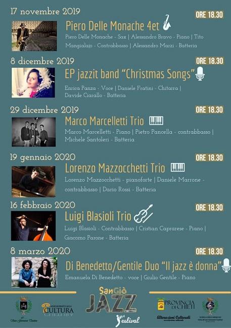 San Giovanni Teatino, San Giò Jazz Festival 2019: il programma
