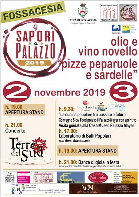 Fossacesia, tutto pronto per la 16° edizione di Sapori a Palazzo