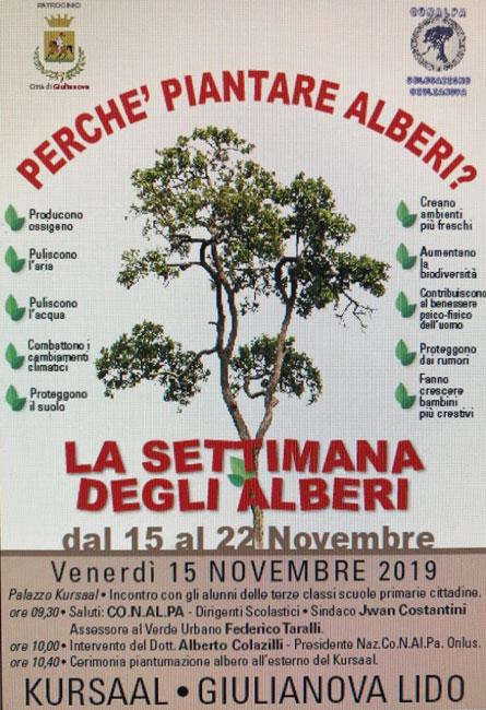 settimana degli alberi Giulianova