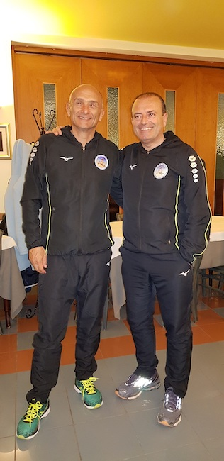 Gabriele Tarquini e Luca Delli Compagni con la divisa sportiva