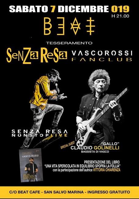 San Salvo, sabato la presentazione del Senza Resa Vasco Fan Club