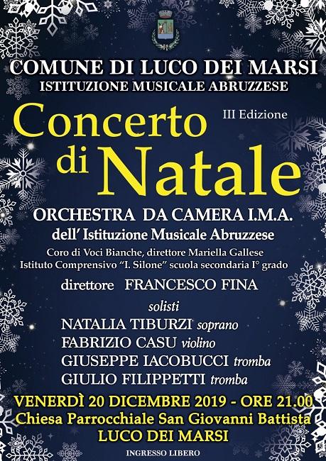 Luco dei Marsi, Gran concerto di Natale con l'Itituzione Sinfonica Abruzzese