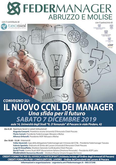 Convegno sul nuovo Contratto Collettivo dei Dirigenti Industriali a Pescara