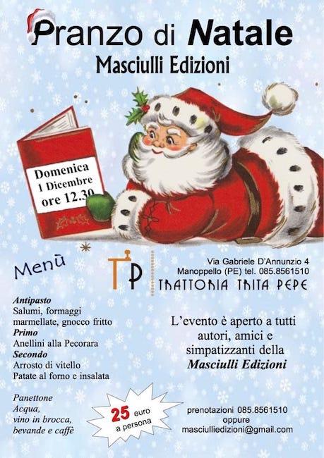 pranzo di natale Lettomaoppello 1 dicembre 2019