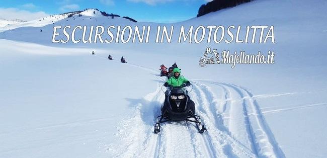 escursioni in motoslitta