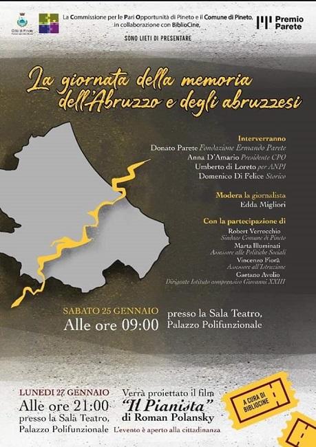 """A Pineto il convegno """"Giornata della Memoria dell'Abruzzo e degli abruzzesi"""""""