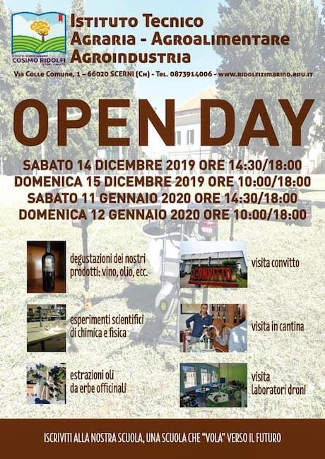 locandina open day scerni