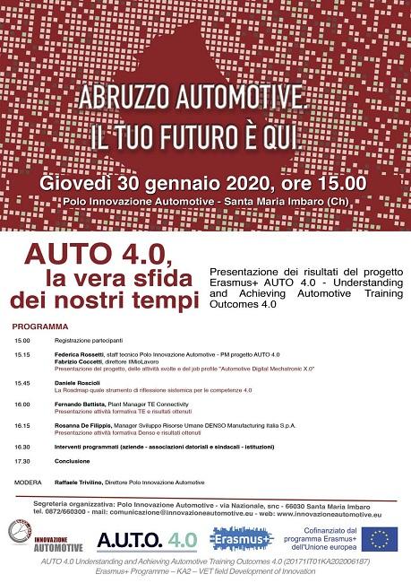 """A Santa Maria Imbaro il workshop """"Auto 4.0, la vera sfida dei nostri tempi"""""""