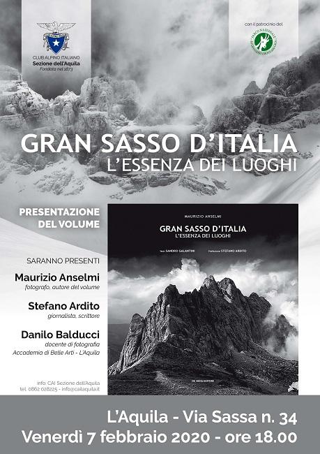 """L'Aquila, Maurizio Anselmi presenta """"Gran Sasso d'Italia – L'essenza dei luoghi"""""""