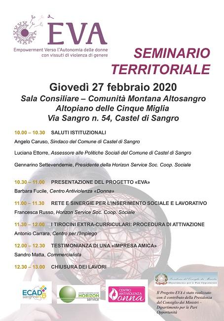 Sulmona, al via il Progetto Eva pro donne vittime di violenza