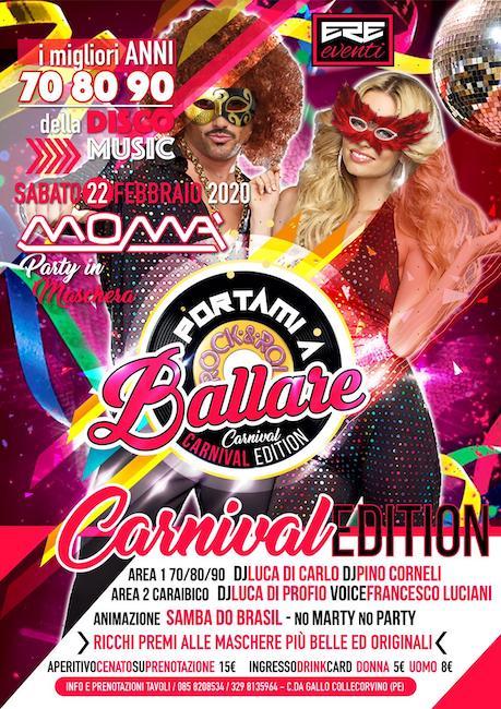 carnival party moma 22 febbraio 2020