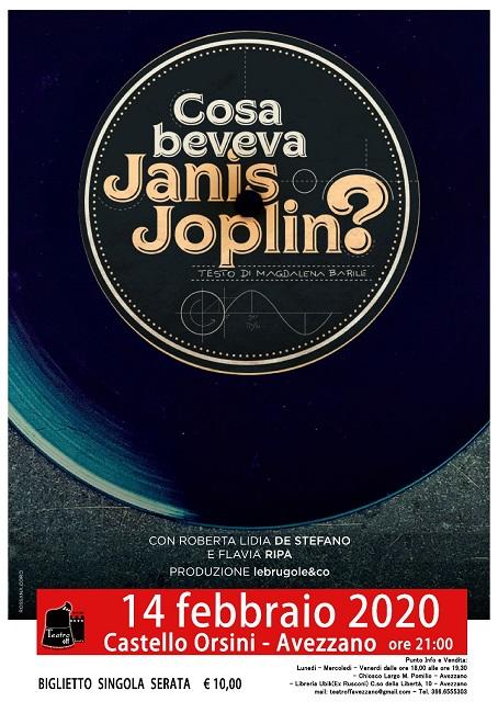 """Al Teatro Off di Avezzano approda """"Cosa beveva Janis Joplin"""""""