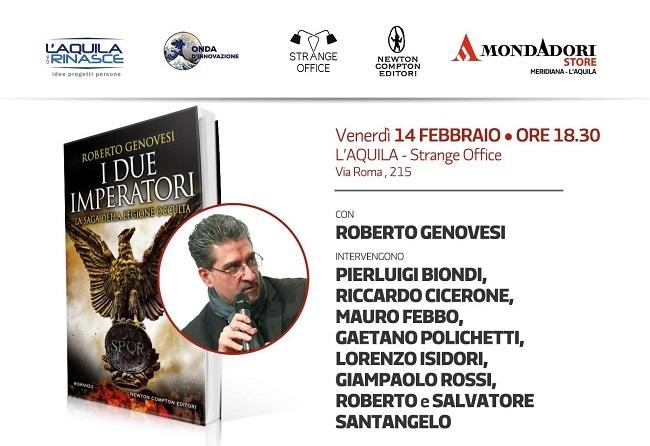 """L'Aquila, presentazione del volume """"I Due Imperatori"""" di Roberto Genovesi"""