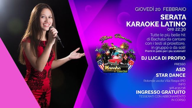 karaoke latino mambo latin 20 febbraio 2020