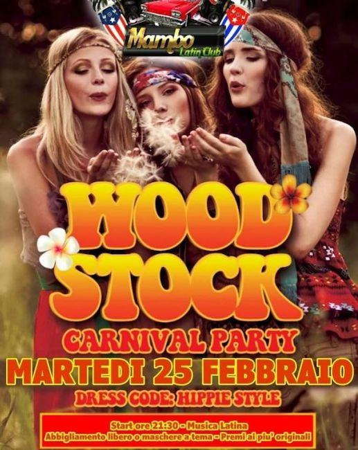 Carnevale wood stock mambo latin 25 febbraio 2020