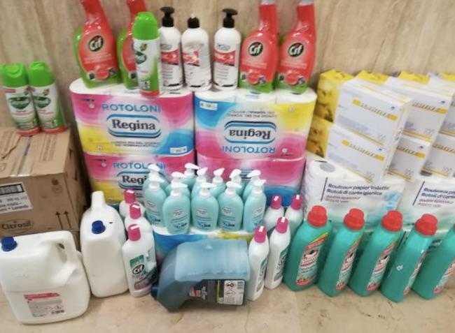 furto prodotti igienizzanti