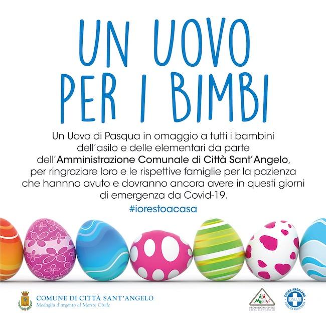 Città Sant'Angelo, uova di pasqua per i bambini angolani