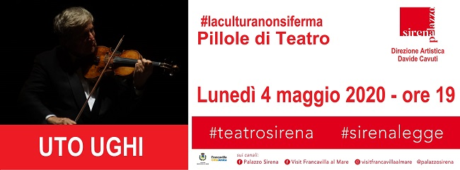 Locandinda Uto Ughi PILLOLE DI TEATRO 2020-1