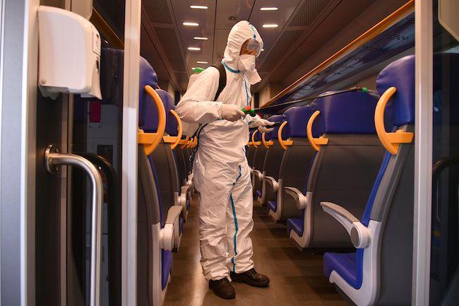 sanificazione treno